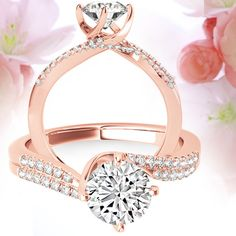 Rose Gold, with its warm, blush tone is becoming the go-to metal setting for the Modern Bride. Diamond Wish offers a wide selection of Diamond Engagement Rings. Shop DiamondWish.com today
