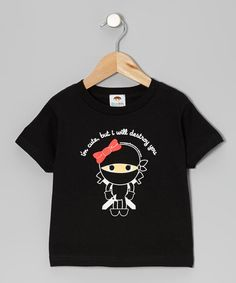 Take a look at this Black 'I'm Cute' Girl Ninja Tee - Toddler & Girls by Paperflavor on #zulily today!