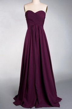 Strapless Dark Purple Bridesmaid Dress-sample   #PurpleBridesmaidDresses   #PurpleWeddings  #Vponsale