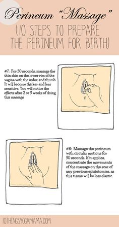 "Perineum ""Massage"" (10 Steps to Prepare the Perineum for Birth)"