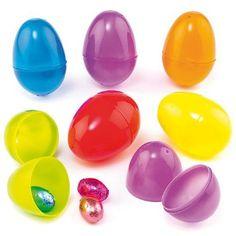 Coloured Plastic Eggs (Pack of 12)