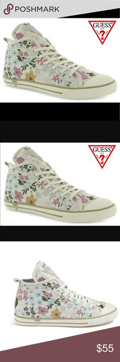 Guess Joan sneakers leather active shoes athletic Nice looking sneakers size 8 Guess Shoes Sneakers