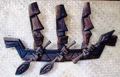 Tiki Plaques by Bosko Vintage Tiki, Vintage Hawaiian, Tiki Art, Tiki Tiki, Tiki Pole, Tiki Tattoo, Tiki Head, Bamboo Bar, Tiki Lounge