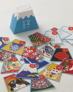 Japanese card game 'Karuta' // bold graphics and interesting packaging