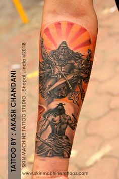 Devotion to almighty Shiva . Amazingly designed and tattoo by Akash Chandani SKIN MACHINE TATTOO STUDIO . Bhopal . India Email for appointments: skinmachineteam@gmail.com www.skinmachinetattooz.com