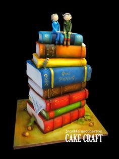 Anniversary books cake by Janette MacPherson Cake Craft