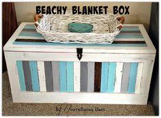 NorthShore Days.....: Striped Beachy Blanket Box