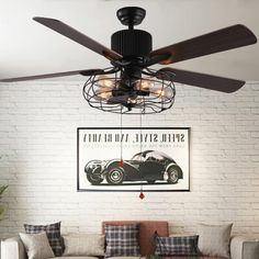 Williston Forge Borg 5 -Blade Ceiling Fan with Light Kit Included | Wayfair