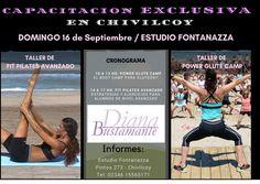 Talleres de capacitacion en CHIVILCOY Fit Pilates Avanzado Power Glute Camp INFORMATE www.diana-bustamante.com.ar