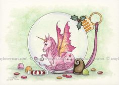 ORIGINAL WATERCOLOR PAINTING Unicorn by Amy Brown by AmyBrownArt