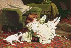 Time To Play by Charles Burton Barber