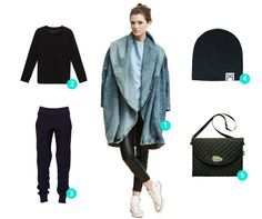 Which combination You like the most? #womanfashion #oversize #coat #black #accessories