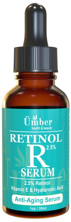 Retinol 2.5% Anti-Aging Serum with Vitamin E, Aloe Vera and Hyaluronic Acid - Age Defying Anti-Wrinkle Face Moisturizer Formula, Boost Collagen, Slow Aging Signs, Hydrate & Soften Skin