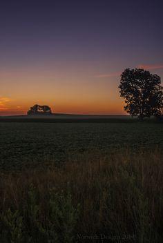 Sunrise off of highway 13, in Freeburg, IL
