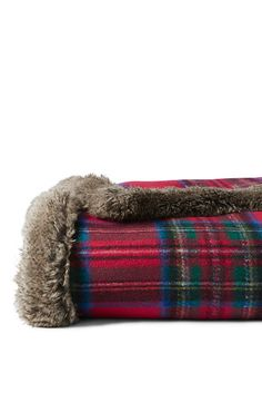 Plaid Knit Throw from Lands' End