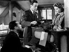 Dooley Wilson, Humphrey Bogart and Ingrid Bergman in Casablanca, 1942.