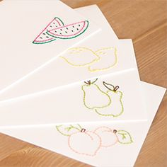 DIY hand embroidered cards. Add something special to your gift-giving.