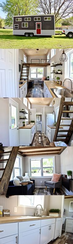 Tiny House Collectiv: Chateau Shack Tiny Home Tiny House Living, Small Living, Tiny House Community, Rental Decorating, Tiny Spaces, Tiny House On Wheels, Tiny House Design, Future House, Building A House