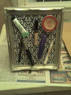 The magnetic makeup holder I made! :)