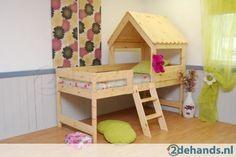 houten halfhoogslaper jungle bed gratis bodem