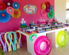 Barbie Birthday Party, Spa Birthday, Barbie Party, 3rd Birthday Parties, Pool Party Themes, Pool Party Decorations, Party Ideas, Birthday Souvenir, Party Co