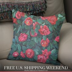 «Camellias, lips and berries. Camellia, Berries, Lips, Throw Pillows, Design, Art, Art Background, Cushions, Berry Fruits