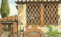 .Roberto Innocenti. Comic Pictures, Art For Kids, Illustratore, Outdoor Structures, Comics, House Styles, Children, Book, Art For Toddlers