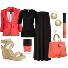 Stylish Coral Outfit for Summer