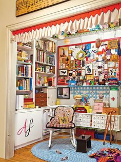 Amy Sedaris' craft cubby