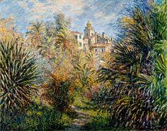 """The Moreno Garden at Bordighera"" by Claude Monet, 1884 ・ Style: Impressionism ・ Genre: landscape"