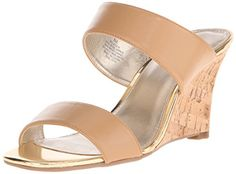 Bandolino Womens Jadzia Wedge Sandal Natural 85 M US -- You can get more details by clicking on the image.