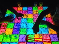 Water Beads and Magna Tiles on the light table | Epic Childhood