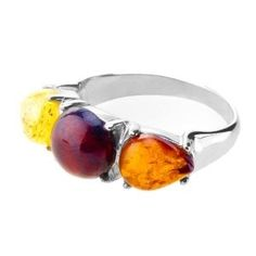 ANYA Sterling Silver Ring Studded with Amber (Jewelry)  http://www.picter.org/?p=B0064A1R5W