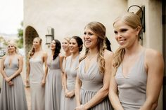 Custom Fame and Partners bridesmaid dresses: cute, cohesive, and starting at $199.