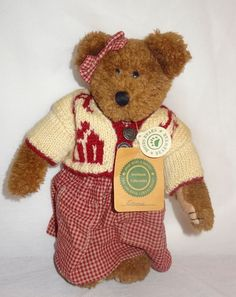 """Boyds Teddy Bear Emma Archive Collection 11"""" #1364 1990-98 A.B.C Sweater Retired #Boyds #AllOccasion"""