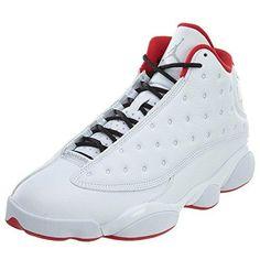 new arrival e4608 b7442 Nike Air Jordan 13 Retro Mens Basketball Shoes White Metallic  Silver University Red,
