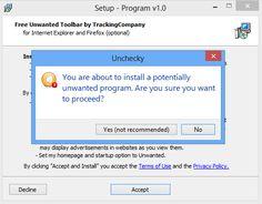 Impedire l' Installazione di Programmi Indesiderati e Toolbar con Unchecky