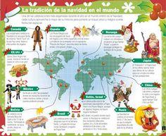 Conozca la tradición de la Navidad en el Mundo con una #infografía