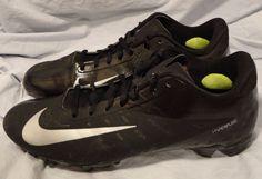 Nike Vapor Elite Football Cleats Hyperfuse 500068-001 size 10 Men Black, Silver #NIKE #Cleats