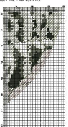 GRAFICOS PUNTO DE CRUZ GRATIS : TIGRES