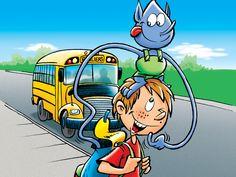 Sam et Bloup - Sécurité en autobus scolaire