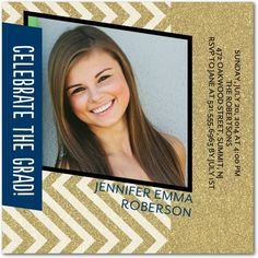 Sparkling Achievement - #Graduation Invitations - Petite Alma - Gilded Brown and gold gleaming accents