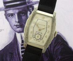 Men's Vintage Watch: 1938 Bulova Wristwatch with Enameling | Strickland Vintage Watches
