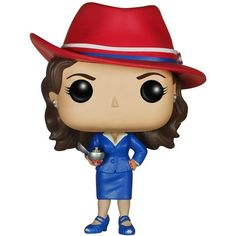 Funko POP Marvel Agent Carter Action Figure (5.440 CRC) ❤ liked on Polyvore featuring funko pop and marvel