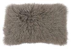 Mongolian 12x20 Lamb Fur Pillow, Gray on OneKingsLane.com  #thro #throbyml #marlolorenz #pillows #collection #mongolians #fur # home #decor #accent #style #chic #fashion #flashsale #sale #onekingslane