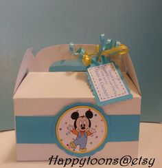Baby Mickey mouse favor boxes, set of 12