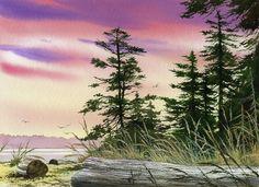 Along The Coast Painting - Along The Coast Fine Art Print