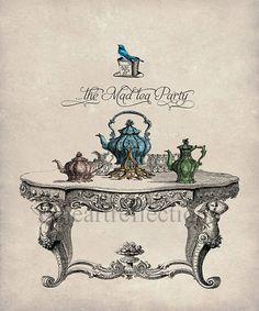 Alice In Wonderland Tea Party Wall Art Print by Fineartreflections, $36.00