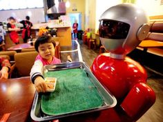 Virtual reality lessons could make some teachers millionaires experts predict    A robot serving food in a restaurant in China; they could soon be used to teach maths and reading to primary school pupils Getty  Robot classroom assistants and virtual reality learning could see celebrity teachers make millions experts claim.  Technology is set to play a vital role in helping the 263 million children globally who are not in school delegates at the annual Headmasters and Headmistresses…