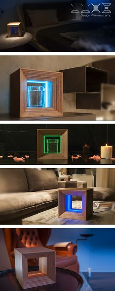 LUX3 is a #wooden #designer #lamp, in the form of a light emitting cube, that transmits well-being via colored light or through the use of water enriched by color energy. An easily understood app allows you to interact with LUX3 and gives you all the information you need to use it.   https://www.kickstarter.com/projects/27c/lux3-design-wellness-lamp